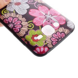 Jelly gélový obal pre mobil Samsung Galaxy J5 - koláž kvetin - 4