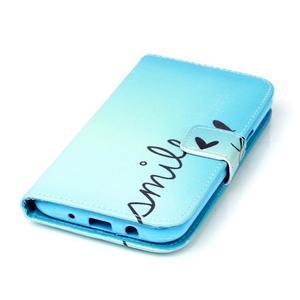 Pictu peňaženkové puzdro pre Samsung Galaxy J5 - smile - 4