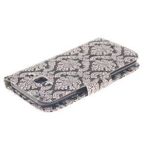 Standy peňaženkové puzdro pre Samsung Galaxy J5 - retro totem - 4