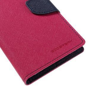 Diary PU kožené puzdro pre mobil Samsung Galaxy J5 (2016) - rose - 4