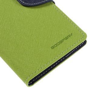 Diary PU kožené puzdro pre mobil Samsung Galaxy J5 (2016) - zelené - 4