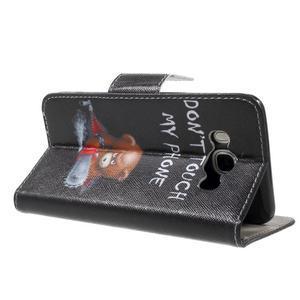 Nice peňaženkové puzdro pro Samsung Galaxy J5 (2016) - zlej méďa - 4