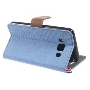 Denim peňaženkové puzdro pre Samsung Galaxy J5 (2016) - svetlomodré - 4