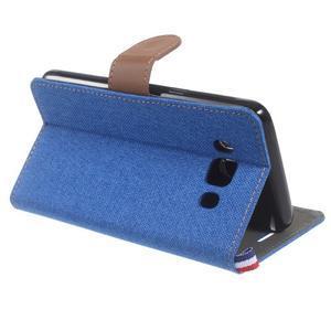 Denim peňaženkové puzdro pre Samsung Galaxy J5 (2016) - modré - 4