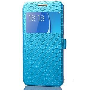 Stars puzdro s okienkom pre mobil Samsung Galaxy J5 (2016) - modré - 4