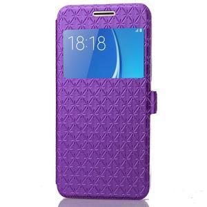 Stars pouzdro s okýnkem na mobil Samsung Galaxy J5 (2016) - fialové - 4