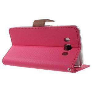 Gentle PU kožené peňaženkové puzdro pre Samsung Galaxy J5 (2016) - rose - 4