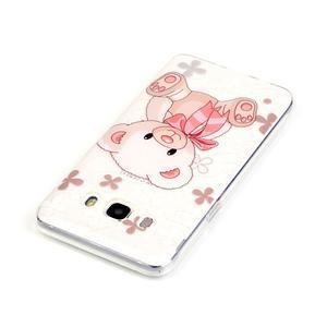 Průhledný obal na mobil Samsung Galaxy J5 (2016) - medvídek - 4