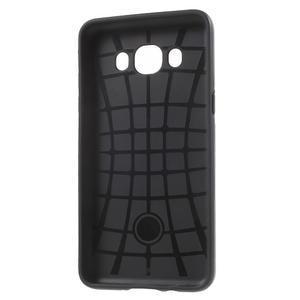 Gélový obal s plastovou výstuhou pre Samsung Galaxy J5 (2016) - čierný - 4