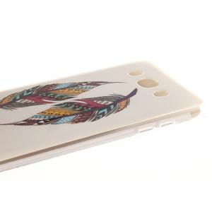 Gélový obal pre mobil Samsung Galaxy J5 (2016) - farebná pierka - 4