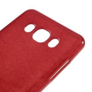 Brushed gélový obal pre mobil Samsung Galaxy J5 (2016) - červený - 4