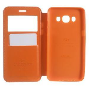 Royal puzdro s okienkom pre Samsung Galaxy J5 (2016) - oranžové - 4