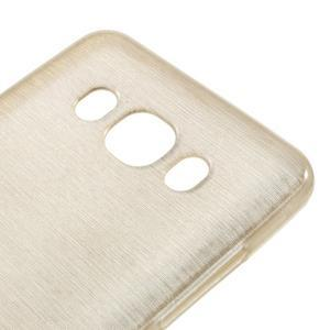 Brushed gélový obal pre mobil Samsung Galaxy J5 (2016) - champagne - 4