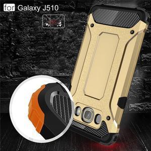 Armor 2v1 odolný obal na Samsung Galaxy J5 (2016) - zlatý - 4