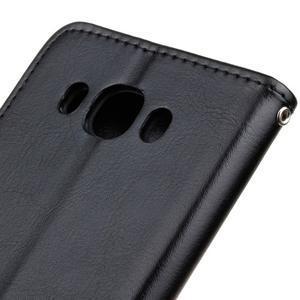 Wall PU kožené puzdro pre Samsung Galaxy J5 (2016) - čierne - 4