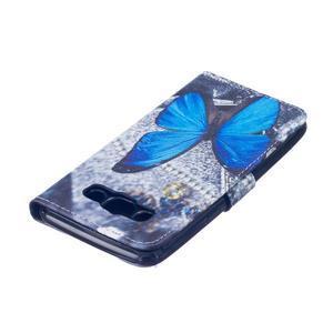 Knížkové pouzdro na mobil Samsung Galaxy J5 (2016) - modrý motýl - 4