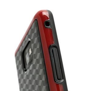 Cube odolný obal pre mobil Samsung Galaxy S2 - červený - 4