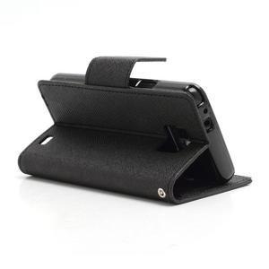 Diary PU kožené puzdro pre mobil Samsung Galaxy S2 - čierne - 4