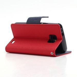 Diary PU kožené pouzdro na mobil Samsung Galaxy S2 - červené - 4