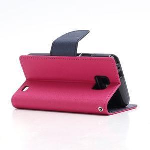 Diary PU kožené puzdro pre mobil Samsung Galaxy S2 - rose - 4