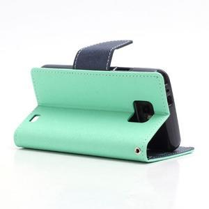 Diary PU kožené puzdro pre mobil Samsung Galaxy S2 - azúrové - 4
