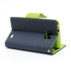 Diary PU kožené pouzdro na mobil Samsung Galaxy S2 - tmavěmodré - 4