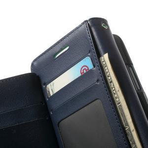 RichDiary PU kožené pouzdro na Samsung Galaxy S3 - azurové - 4