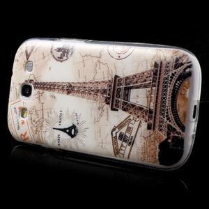 Ultratenký gelový obal na mobil Samsung Galaxy S3 - Eiffelova věž - 4