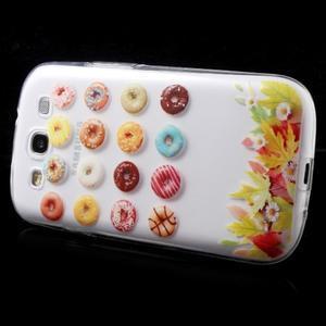 Ultratenký gélový obal pre mobil Samsung Galaxy S3 - donuts - 4