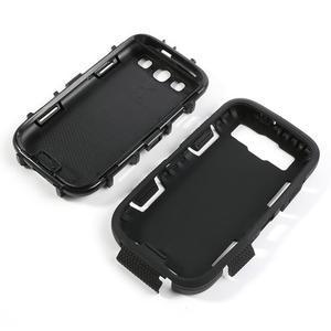 Odolné silikonové pouzdro na mobil Samsung Galaxy S3 - černé - 4