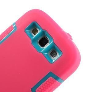 Odolné silikonové puzdro pre mobil Samsung Galaxy S3 - rose - 4