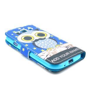 Pictu puzdro pre mobil Samsung Galaxy S3 - sova s vousem - 4