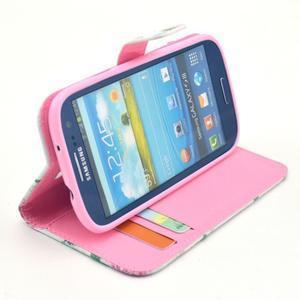 Pictu puzdro pre mobil Samsung Galaxy S3 - kvetinová koláž - 4