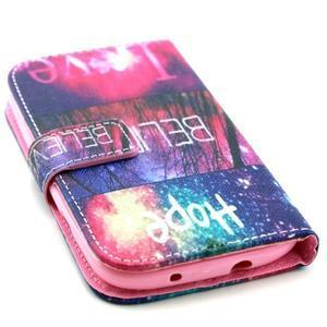 Knížkové puzdro pre mobil Samsung Galaxy S3 - believe - 4