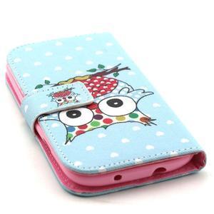 Knížkové puzdro pre mobil Samsung Galaxy S3 - sova - 4