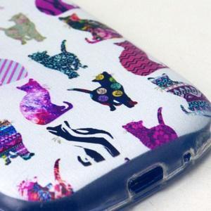 Gloss gélový kryt pre Samsung Galaxy S3 mini - mačičky - 4