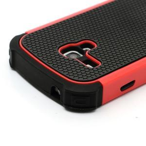 Outdoor odolný obal pre mobil Samsung Galaxy S3 mini - červený - 4