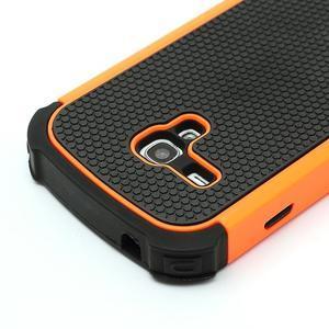 Outdoor odolný obal pre mobil Samsung Galaxy S3 mini - oranžový - 4