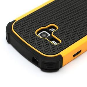 Outdoor odolný obal pre mobil Samsung Galaxy S3 mini - žltý - 4