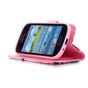 Knížkové PU kožené puzdro pre Samsung Galaxy S3 mini - motýle - 4