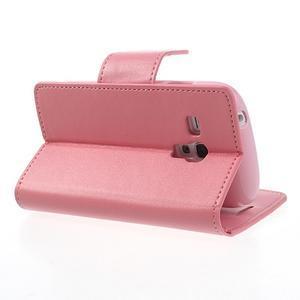 Diary PU kožené pouzdro na Samsung Galaxy S3 mini - růžové - 4