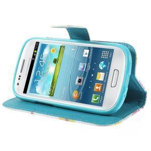 Knížkové puzdro pre mobil Samsung Galaxy S3 mini - kvety - 4