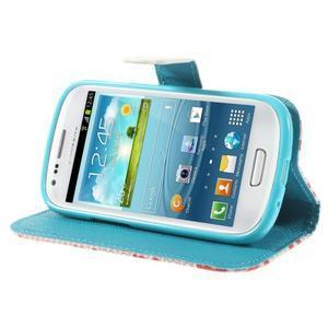 Knížkové puzdro pre mobil Samsung Galaxy S3 mini - tlapky - 4