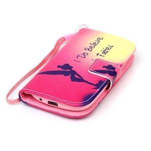 Knížkové PU kožené puzdro pre Samsung Galaxy S3 mini - víla - 4