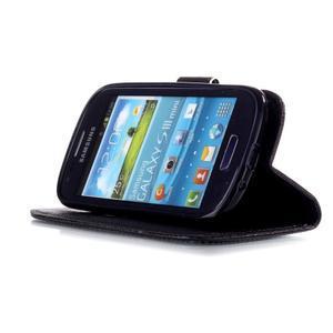 Knížkové PU kožené puzdro pre Samsung Galaxy S3 mini - krásný den - 4