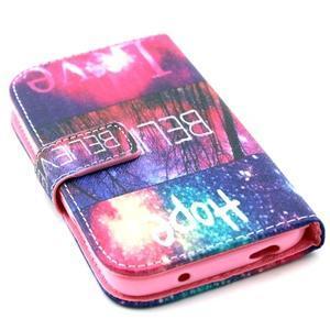 Standy peňaženkové puzdro pre Samsung Galaxy S4 - believe - 4
