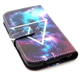 Standy peňaženkové puzdro pre Samsung Galaxy S4 - triangl - 4