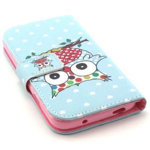 Standy peňaženkové puzdro pre Samsung Galaxy S4 - sova - 4