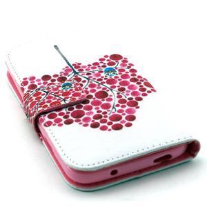Standy peňaženkové puzdro pre Samsung Galaxy S4 - soví strom - 4