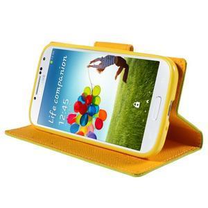 Sunny PU kožené puzdro pre mobil Samsung Galaxy S4 - zelené - 4